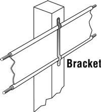 horse fence bracket