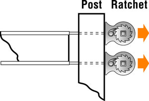 Horse fence post ratchet diagram